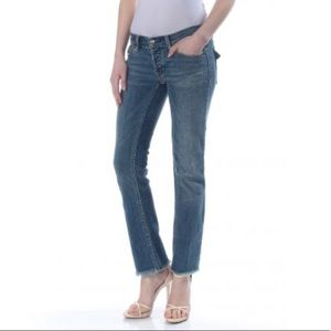 🔥NWT Free People Straight Midrise Stretch Frayed